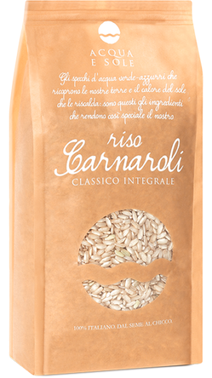 Classic Whole Grain Carnaroli Rice - Riso Acqua e Sole