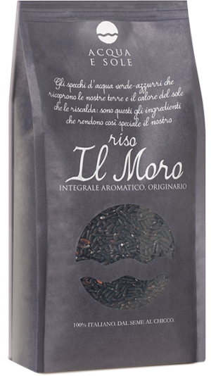 Original aromatic whole grain rice, il Moro