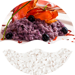 risotto con mirtilli e speck